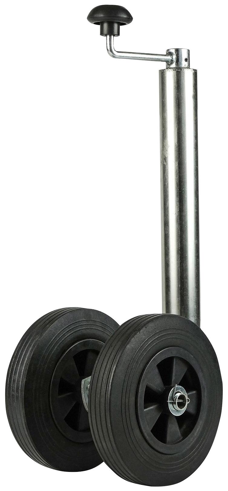 CALIMA Anhänger-Stützrad, mit 2 Vollgummiräder und Kunststoff-Felgen, maximale Stützlast 150 kg schwarz Autoanhänger Autozubehör Reifen Anhänger-Stützrad