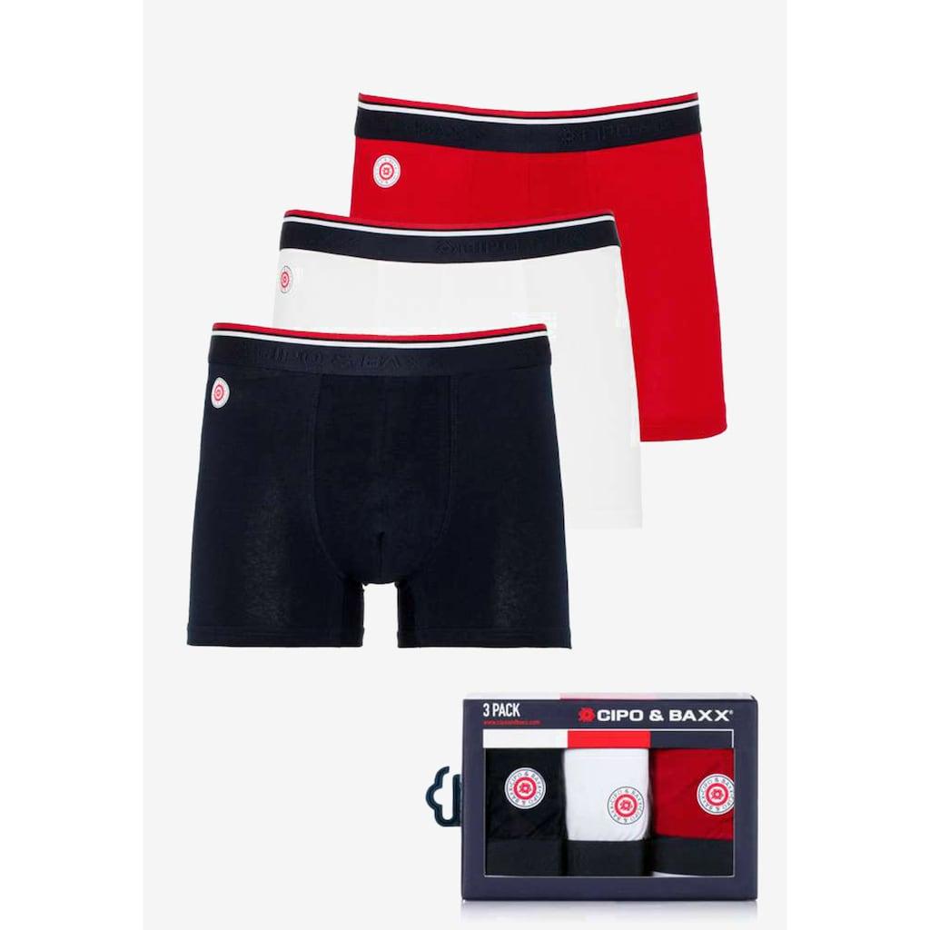 Cipo & Baxx Boxershorts, im praktischen 3er-Pack