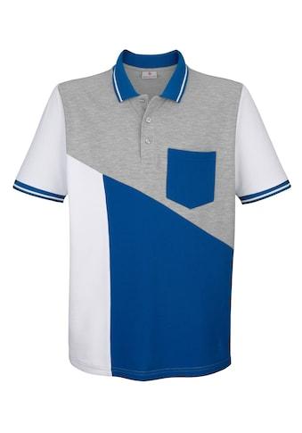 Boston Park Poloshirt mit Farbteilung im Vorderteil kaufen