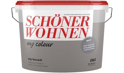 SCHÖNER WOHNEN FARBE Wand -  und Deckenfarbe »my colour  -  my basalt«, matt, 10 l kaufen