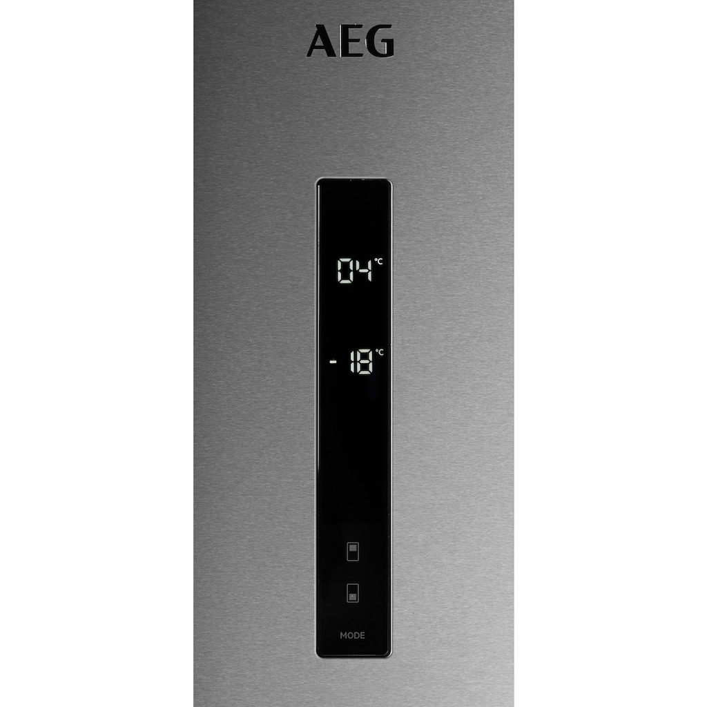 AEG Kühl-/Gefrierkombination »RCB732E5«, RCB732E5MX, 186 cm hoch, 59,5 cm breit
