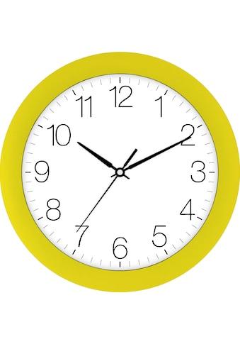 EUROTIME Wanduhr »Trend gelb, 88800-03-1« kaufen