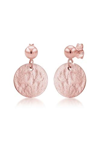 Elli Paar Ohrhänger »Ohrhänger Plättchen Gehämmert Matt 925er Silber« kaufen