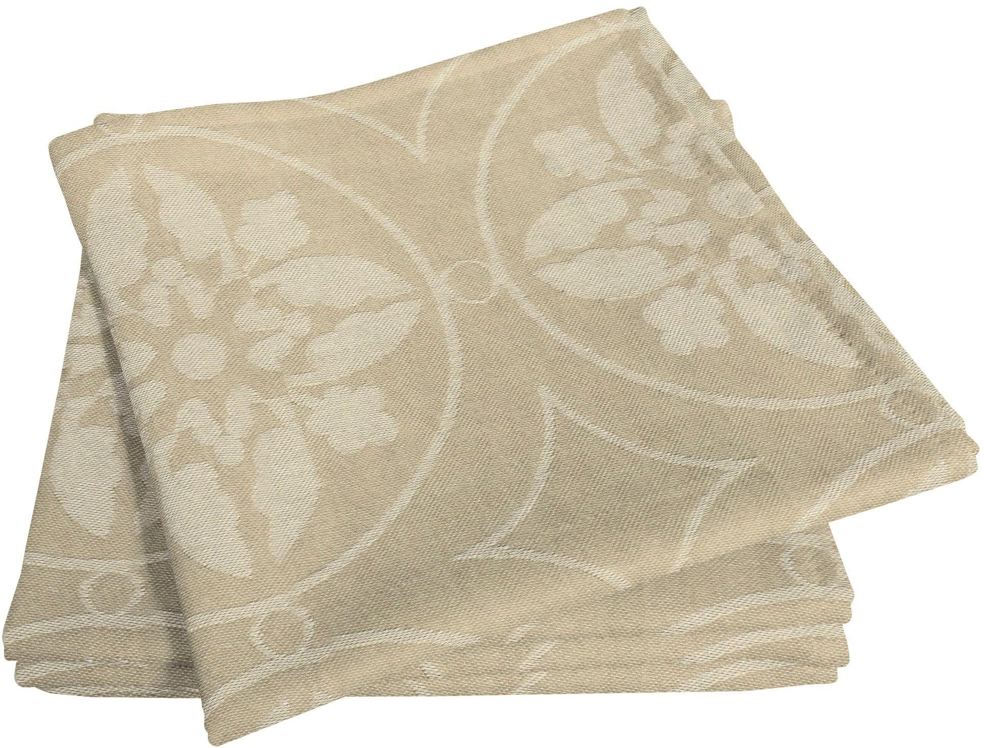 Adam Stoffserviette Romantic Puligny Light, (4 St.), nachhaltig, GOTS zertifiziert beige Stoffservietten Tischwäsche