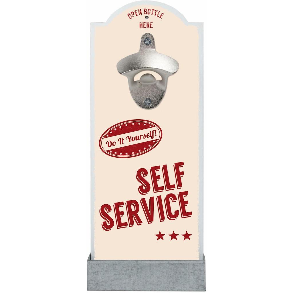 Contento Flaschenöffner »Self Service«, für die Wand