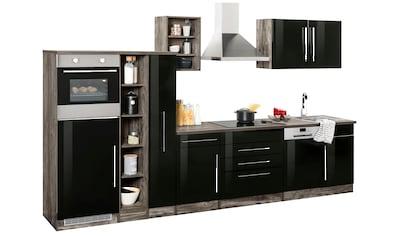 HELD MÖBEL Küchenzeile »Samos«, mit E-Geräten, Breite 350 cm mit Stangengriffen aus... kaufen