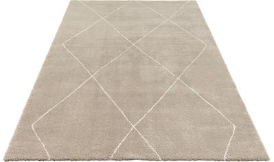 ELLE Decor Teppich »Massy«, rechteckig, 14 mm Höhe, Kurzflor, leichte Reliefstruktur, Wohnzimmer kaufen