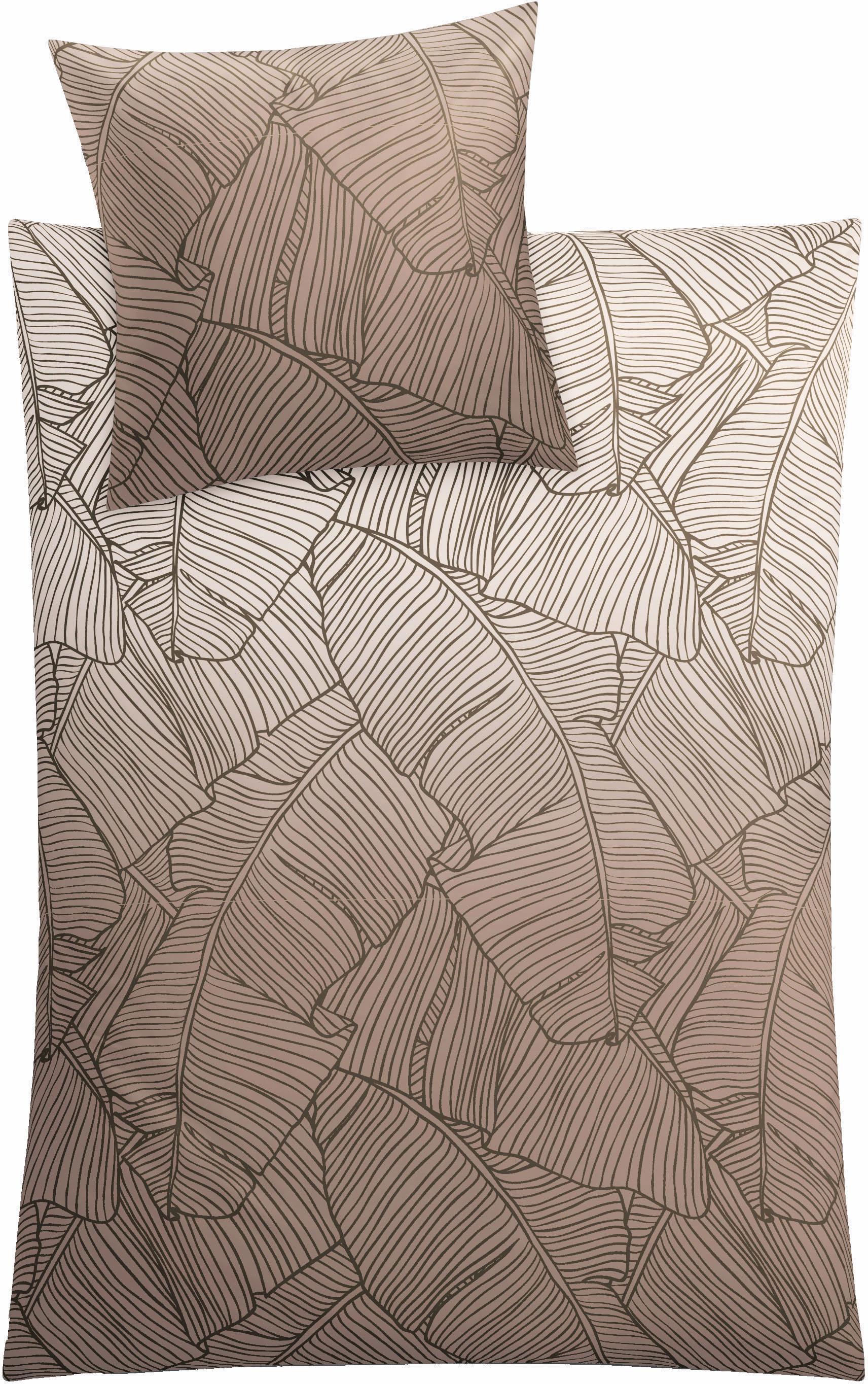 Bettwäsche Kleine Wolke Vero mit Palmenblattmuster