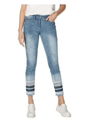 Amy Vermont 5-Pocket-Jeans, mit Streifen am Saum kaufen