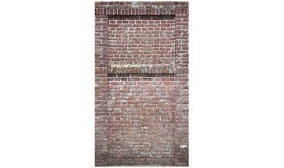 Bodenmeister Fototapete »3d Effekt Steinwand Vintage rot« kaufen