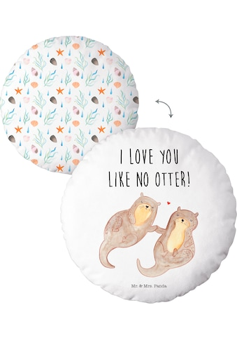 "Dekokissen, »Mr.&Mrs. Panda ""I love you like no Otter""«, kaufen"