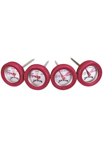 Jim Beam BBQ Grillthermometer, 2 Thermometer für Steak und 2 Thermometer für Geflügel kaufen