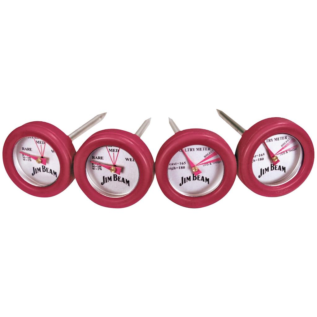 Jim Beam BBQ Grillthermometer, 2 Thermometer für Steak und 2 Thermometer für Geflügel