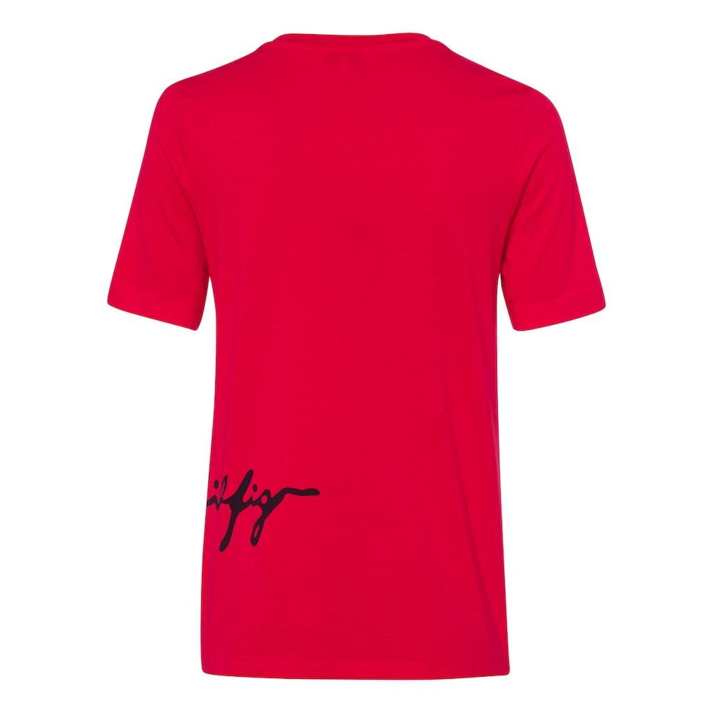 Tommy Hilfiger Rundhalsshirt »REGULAR C-NK SCRIPT TEE SS«, mit Tommy Hilfiger Logo-Schriftzug