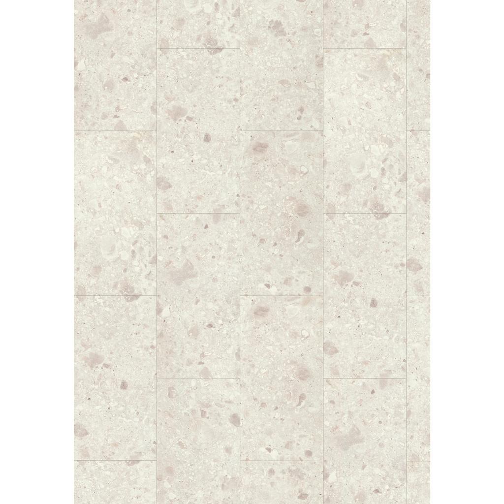 EGGER Laminat »Aqua+ EHL137 Triestino Terrazzo weiss«, 8mm, 2,533m²