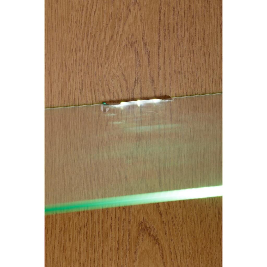 """Home affaire Vitrine »Loft«, Vitrine """"Loft"""" aus Kiefer massiv, LED Beleuchtung, Breite 40 cm"""