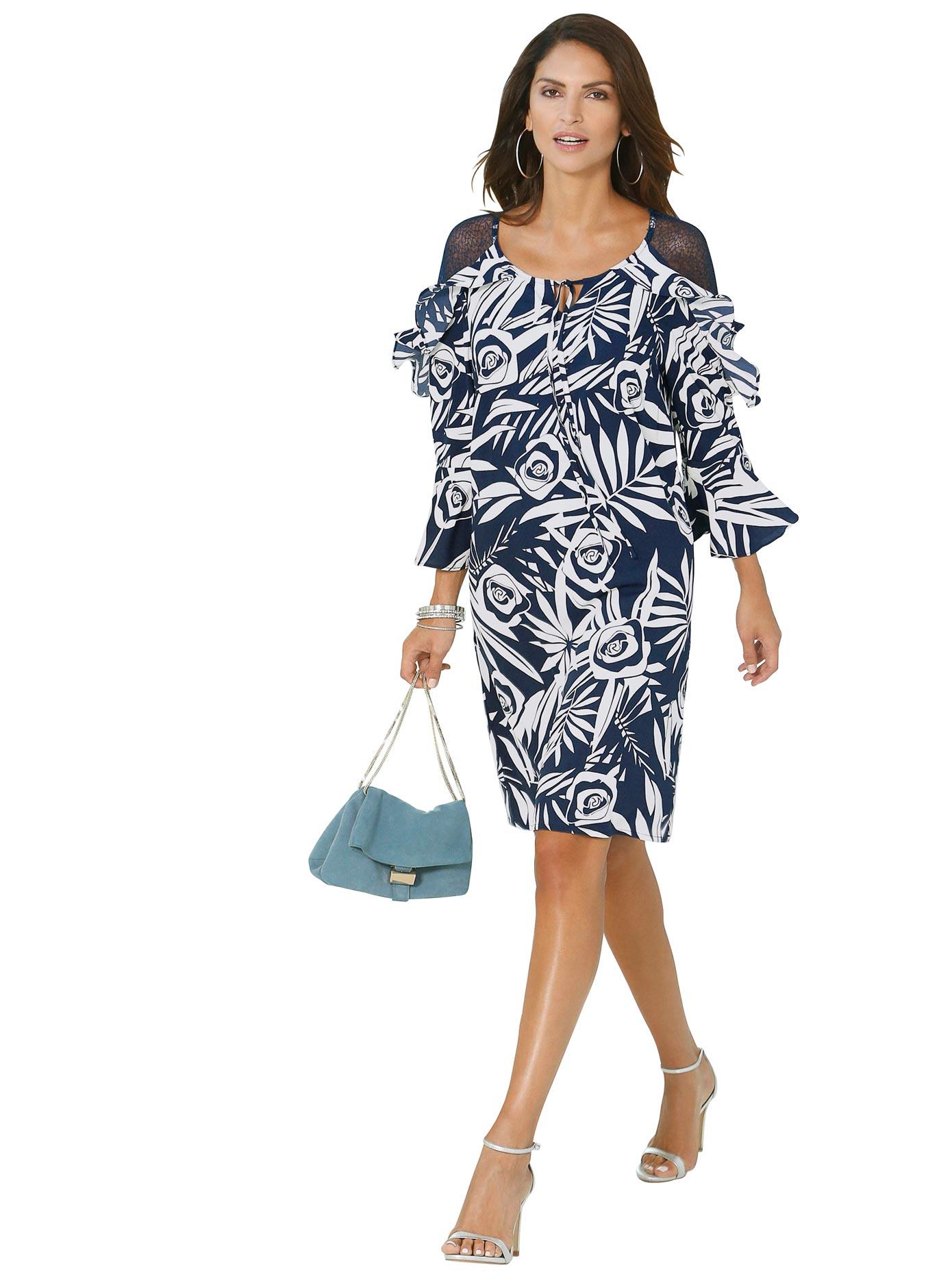 Alessa W Kleid mit Tropic-Motiven