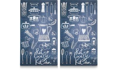 Zeller Present Schneide- und Abdeckplatte »Lovely Kitchen«, 6 rutschfesten Elastikfüßen pro Platte kaufen