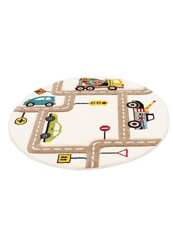 Kinderteppich, »Strassen«, Lüttenhütt, rund, Höhe 13 mm, maschinell gewebt kaufen