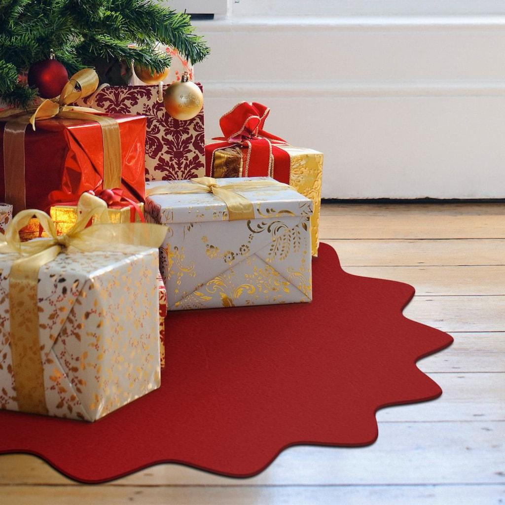 Wall-Art Tischdecke »Rote Weihnachtsbaumdecke Floral«, (1 St.)
