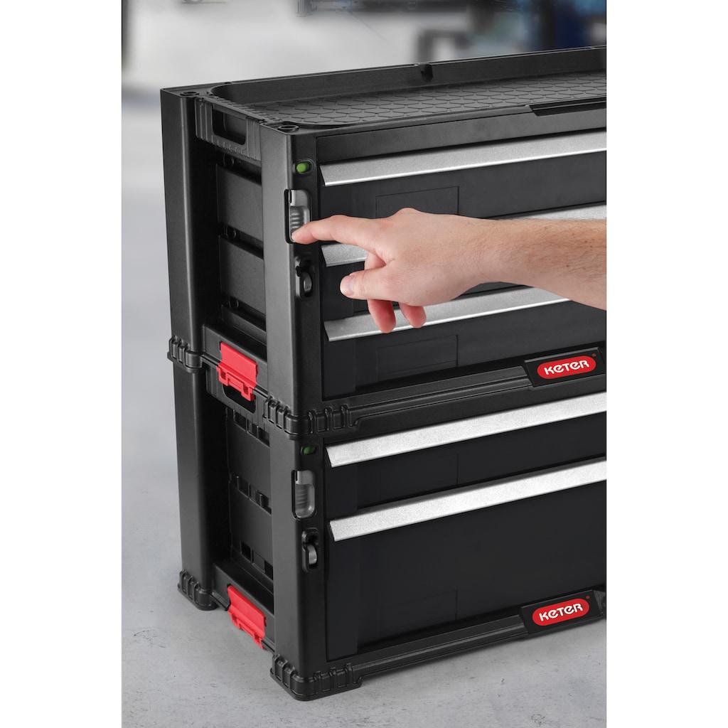 Keter Werkstattwagen, abschließbar, 5 Schubladen, inkl. integrierte Werkzeugablage