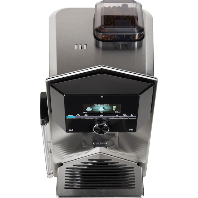 SIEMENS Kaffeevollautomat EQ.9 s400 TI924501DE, 2,3l Tank, Scheibenmahlwerk
