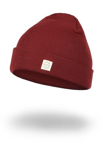 Blend Strickmütze »Scam«, Mütze mit Logobadge kaufen