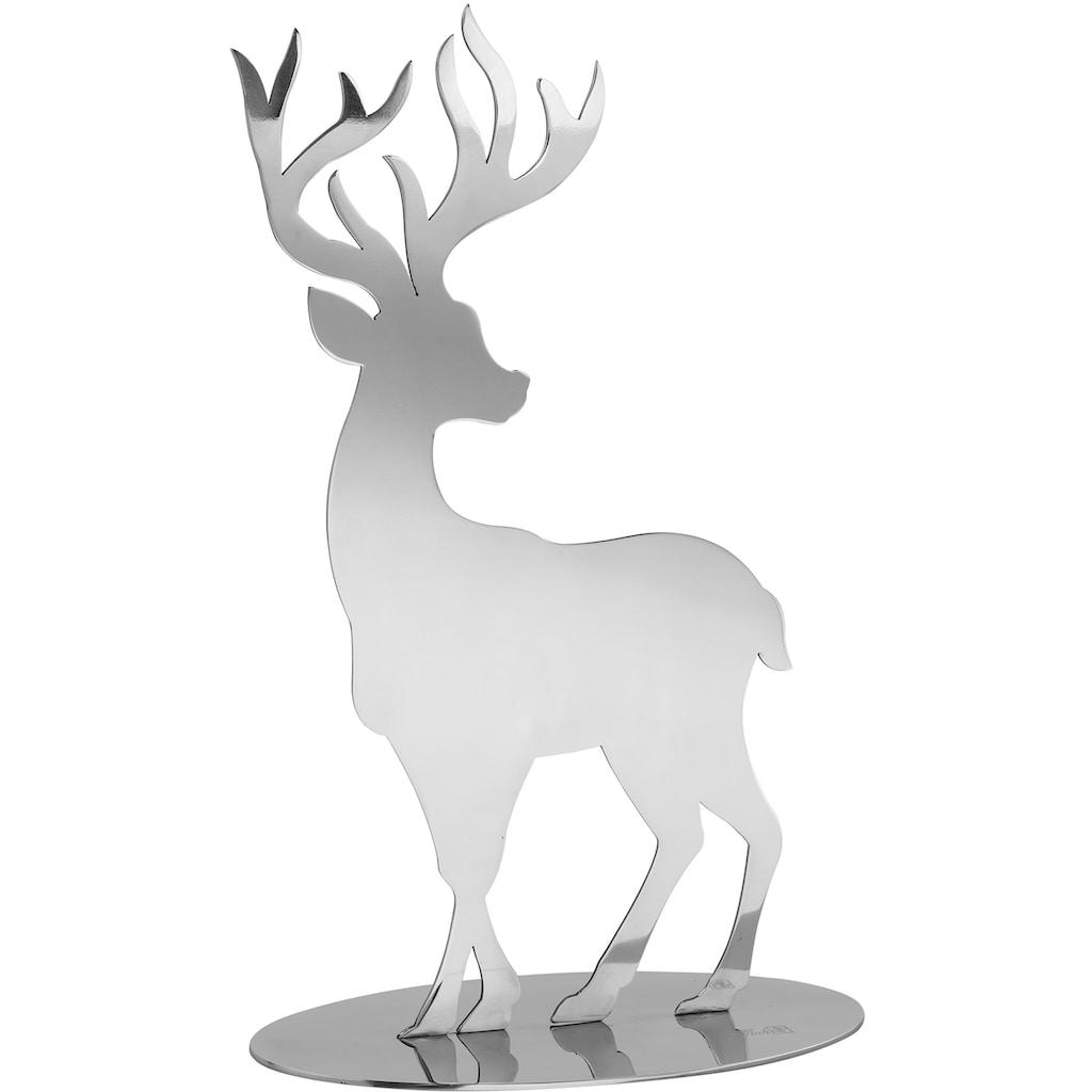 Fink Tierfigur »Hirsch JASPER«, aus Edelstahl