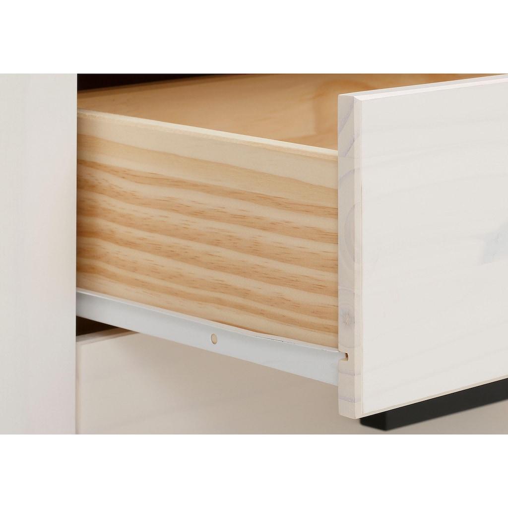 Home affaire Stauraumschrank »Loki«, aus massivem Kiefernholz, mit zwei verstellbaren Holzeinlegeböden, Höhe 170 cm