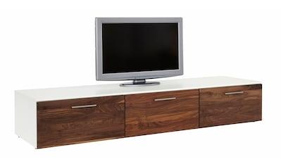 GWINNER Lowboard »SOLANO«, Lack weiß, mit 3 Schubladen, Breite 195 cm kaufen