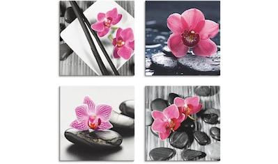 Artland Leinwandbild »Asiatische Komposition Orchidee Zen« kaufen