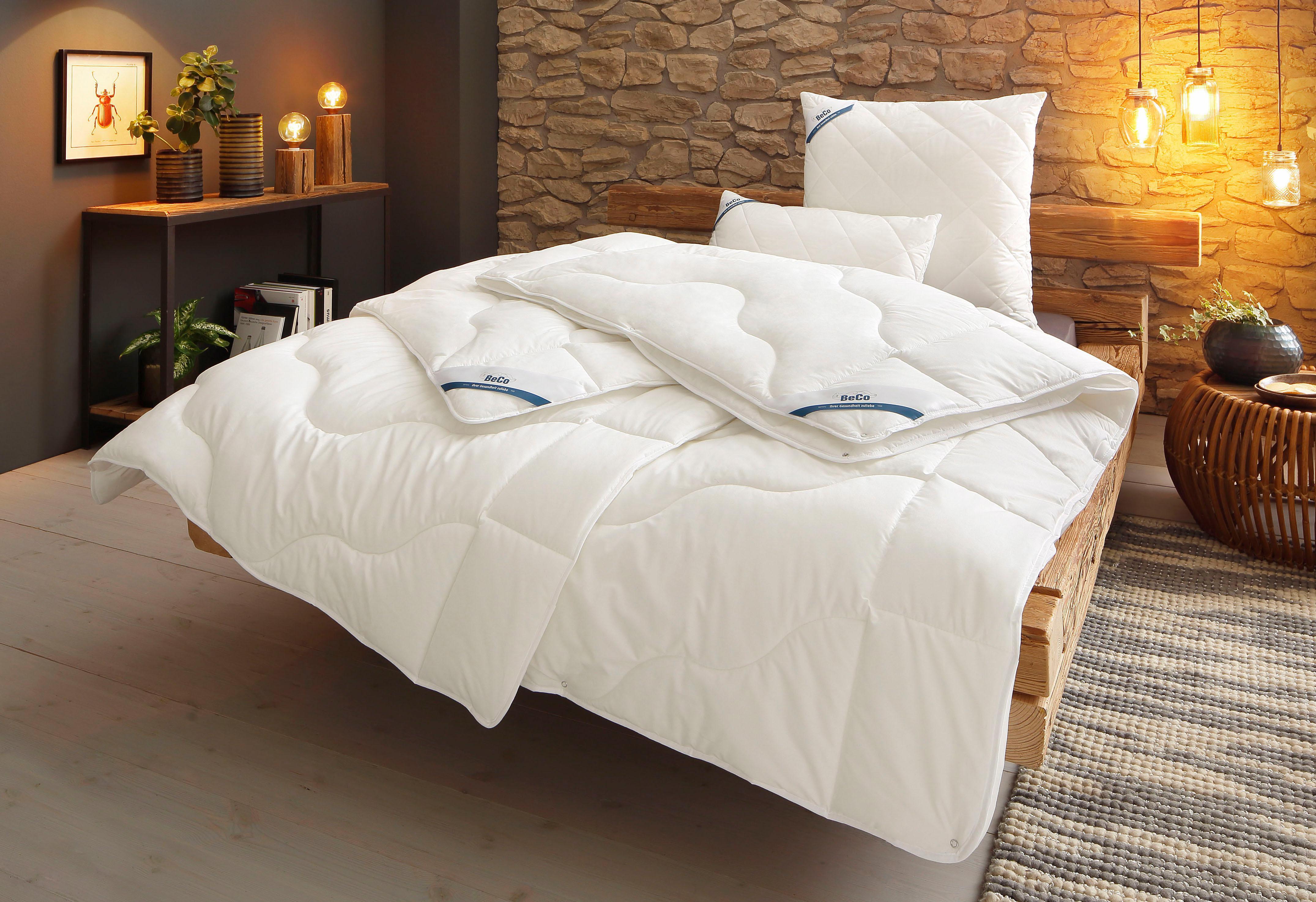 4-Jahreszeitenbett + Kopfkissen BeCo Proneem Beco 4-Jahreszeiten Füllung: Polyester