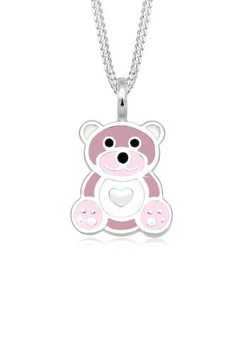 Elli Collierkettchen »Kinder Teddybär Herz Emaille 925 Silber« kaufen