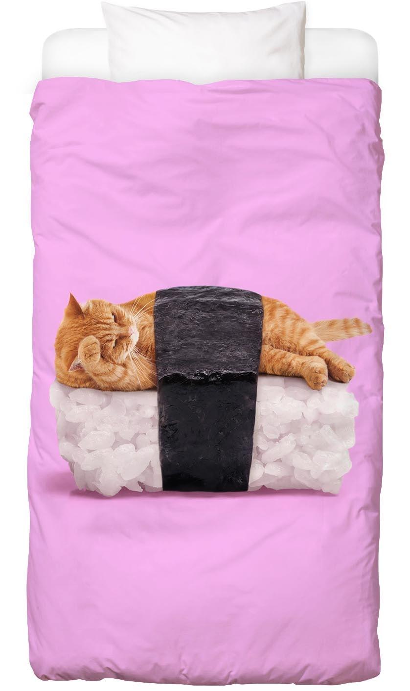 Bettwäsche Sushi Cat Juniqe