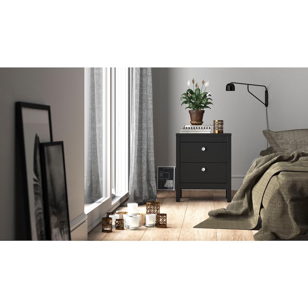 Home affaire Nachttisch »Madrid«, mit einer pflegeleichten Folienbeschichtung, mit Stauraummöglichkeiten, inklusive zwei verschiedenen Griffvarianten im Beschlagbeutel