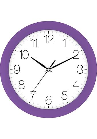 EUROTIME Wanduhr »Trend violett, 88800-21-1« kaufen
