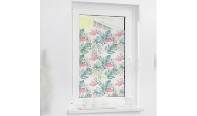 LICHTBLICK ORIGINAL Fensterfolie »Fensterfolie selbstklebend, Sichtschutz, Flamingo -... kaufen