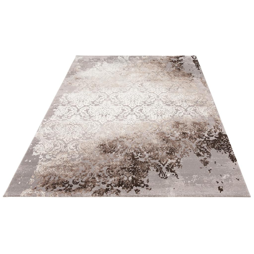 Leonique Teppich »Alisa«, rechteckig, 12 mm Höhe, Hoch-Tief-Effekt, Wohnzimmer