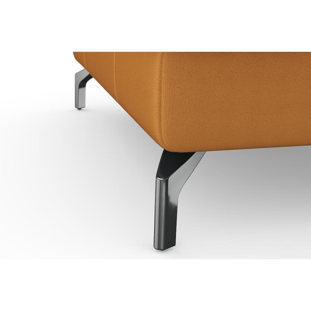 sit&more Ecksofa »Bendigo V«, inklusive Sitztiefenverstellung, Bodenfreiheit 12 cm, wahlweise in 2 unterschiedlichen Fußfarben