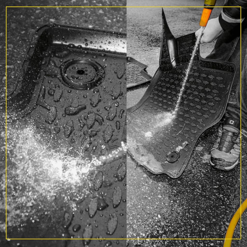 WALSER Passform-Fußmatten »XTR«, Skoda, Superb, Kombi-Schrägheck, (4 St., 2 Vordermatten, 2 Rückmatten), für Skoda Superb BJ 2015 - heute