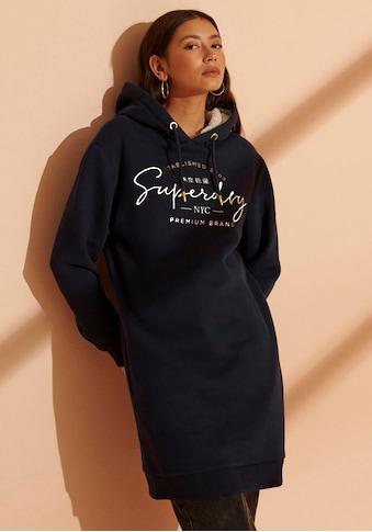 Superdry Sweatkleid »ESTABLISHED SWEAT DRESS«, mit goldenen Designdetails in Premium Optik kaufen