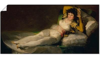 Artland Wandbild »Die bekleidete Maja. 1800-07«, Frau, (1 St.), in vielen Größen &... kaufen