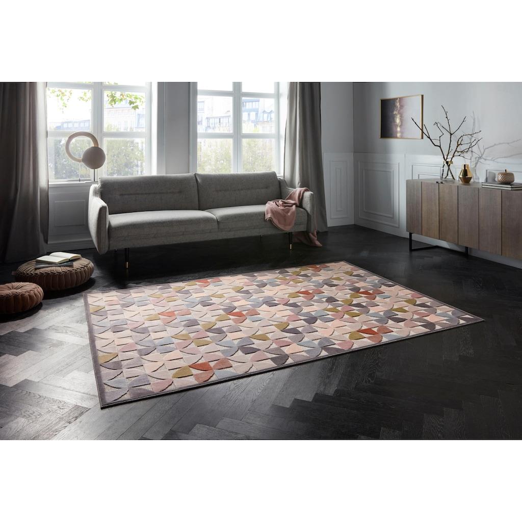 ELLE Decor Teppich »Ailette«, rechteckig, 8 mm Höhe, Hoch-Tief-Struktur, Wohnzimmer