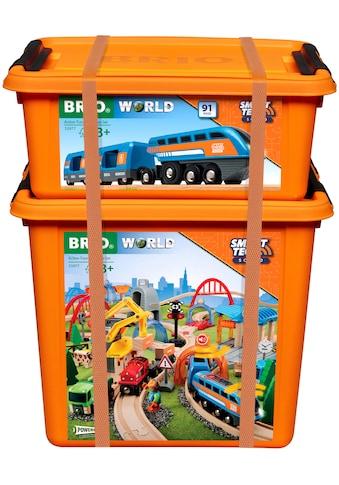 BRIO® Spielzeug-Eisenbahn »Smart Tech Sound Deluxe Set«, mit Soundeffekten, app-fähig kaufen