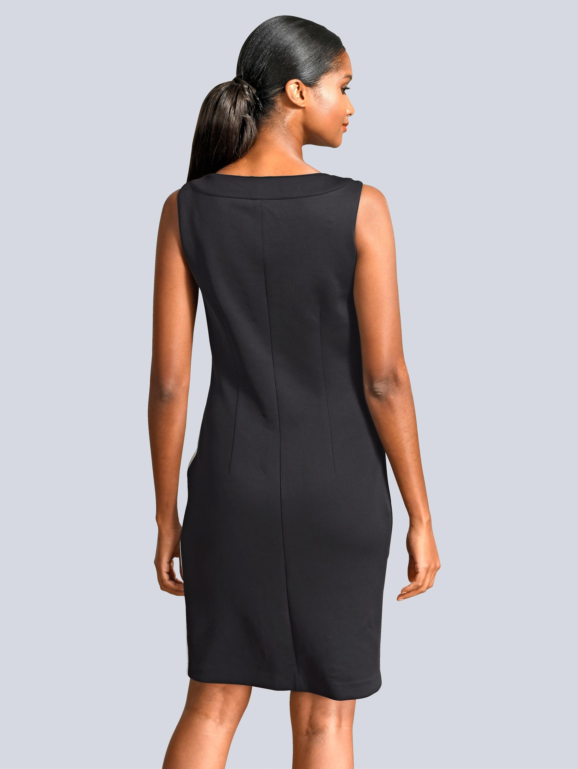 Alba Moda Kleid in kontrastfarbenem Dessin