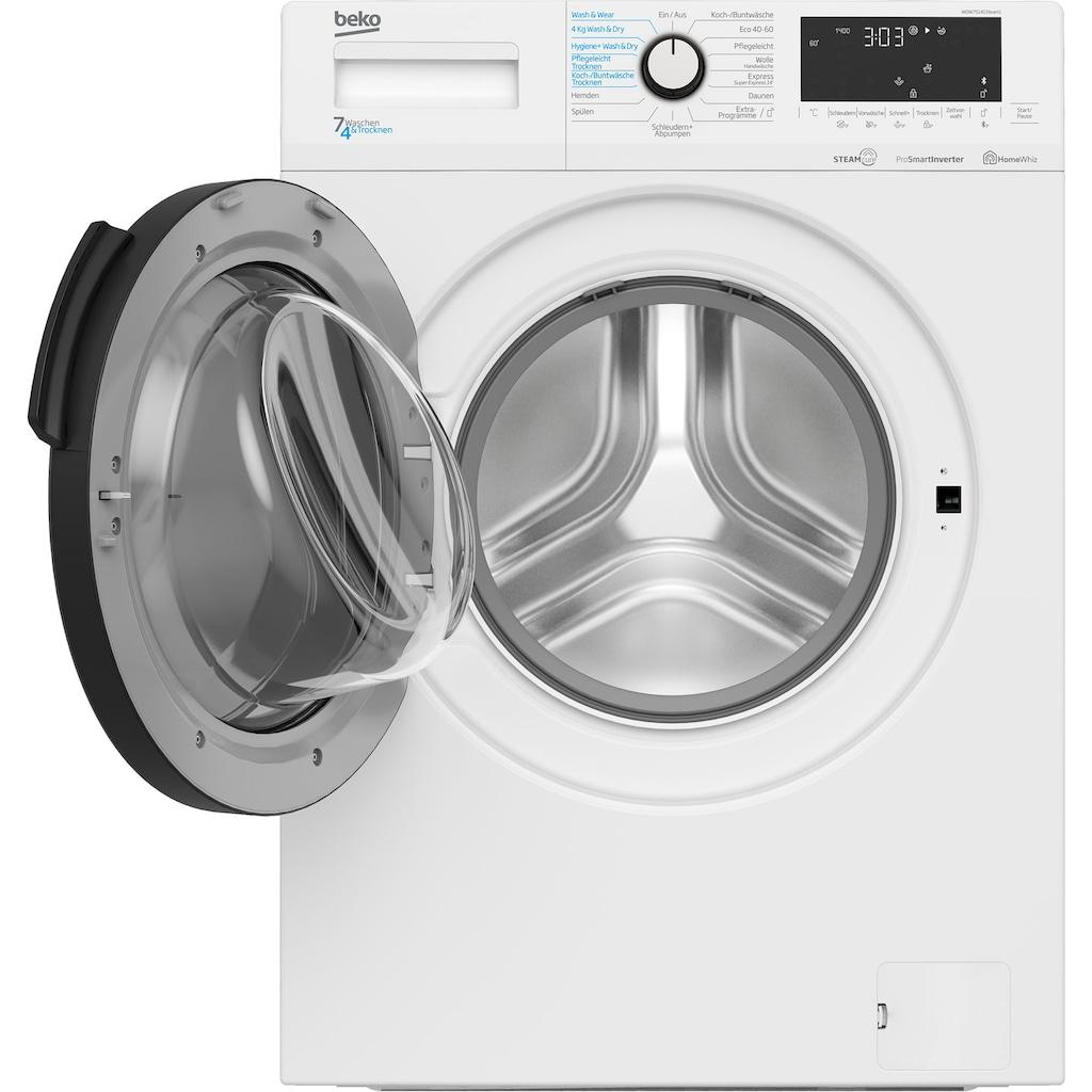 BEKO Waschtrockner »WDW75141Steam1«