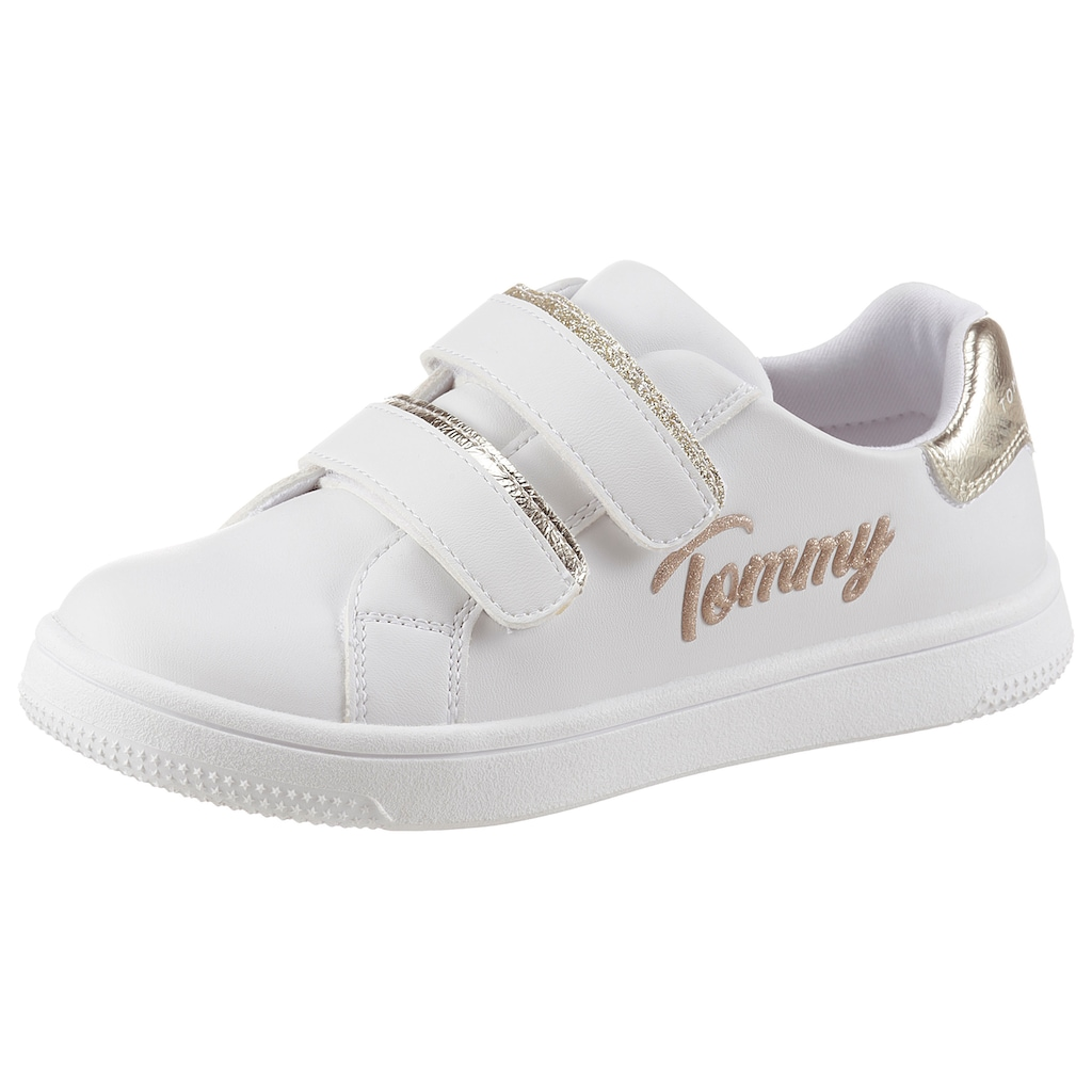 TOMMY HILFIGER Sneaker »Juice«, mit goldfarbenem Logoschriftzug