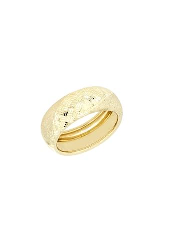 La Piora Goldring »Bandring«, glanz, satiniert, Diamantschnitte, 585/- Gelbgold kaufen