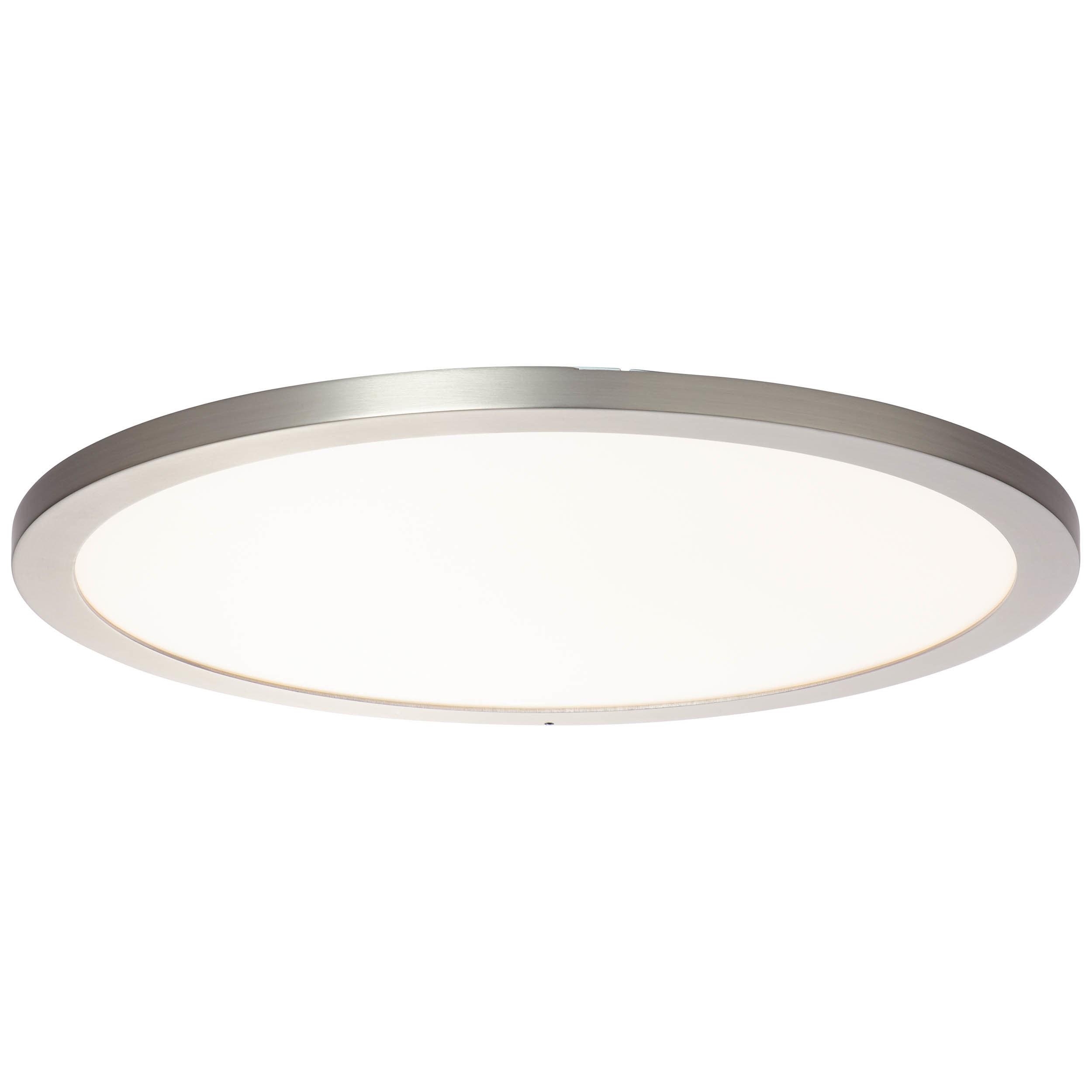 Brilliant Leuchten Smooth WiZ LED Deckenaufbau-Paneel 50cm nickel eloxiert