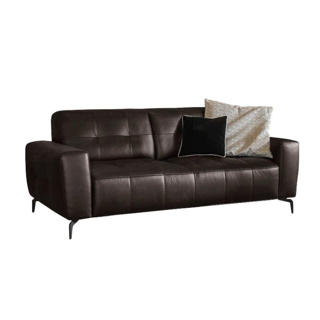 W.SCHILLIG 2,5-Sitzer »wilson«, mit Absteppungen, Füße Schwarz pulverbeschichtet, Breite 198 cm